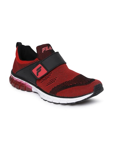 FILA Men Red & Black HYPER BLOW PLUS Energized Running Shoes FILA Sports Shoes at myntra