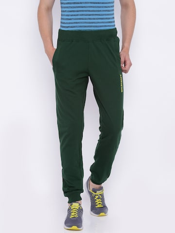 Wildcraft Men Olive Green Side Rib Joggers Wildcraft Track Pants at myntra