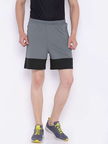 Wildcraft Men Grey Solid Regular Fit Sports Shorts Wildcraft Shorts at myntra