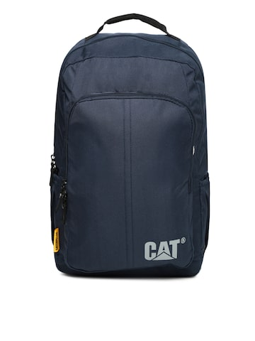 CAT Unisex Navy Solid Backpack CAT Backpacks at myntra