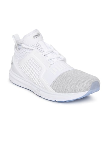 Puma Men White & Grey IGNITE Limitless Knit Sneakers Puma Casual Shoes at myntra