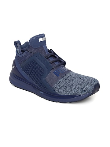 Puma Men Navy Blue IGNITE Limitless Knit Sneakers Puma Casual Shoes at myntra