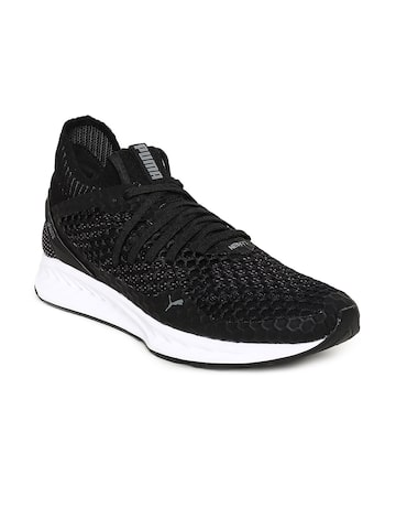 Puma Men Black Ignite NETFIT Running Shoes Puma Sports Shoes at myntra