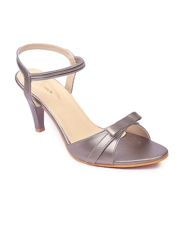 Lovely Chick Women Grey Solid Heels Lovely Chick Heels at myntra