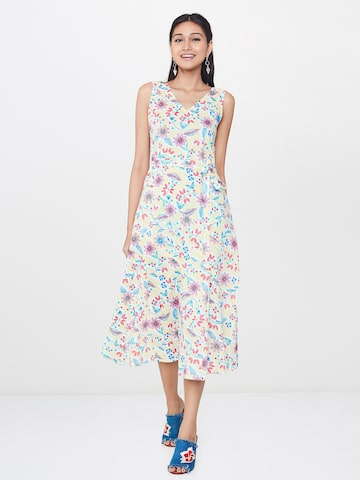 Global Desi Women Multicoloured Printed A-Line Dress Global Desi Dresses at myntra