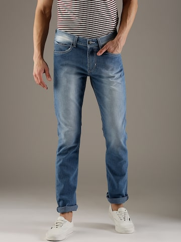 Flying Machine Men Blue Slim Prince Fit Mid-Rise Clean Look Stretchable Jeans Flying Machine Jeans at myntra