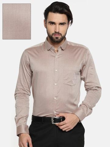 Park Avenue Men Brown Slim Fit Solid Formal Shirt Park Avenue Shirts at myntra