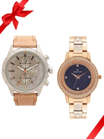 Daniel Klein Set of 2 His & Her Watch DK11361-4 DK11415-3 Daniel Klein Watches at myntra