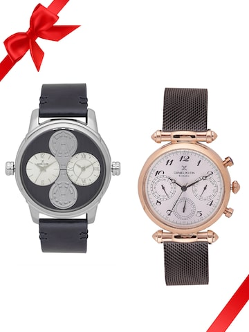 Daniel Klein Set of 2 His & Her Watches DK11305-2 DK11395-5 Daniel Klein Watches at myntra