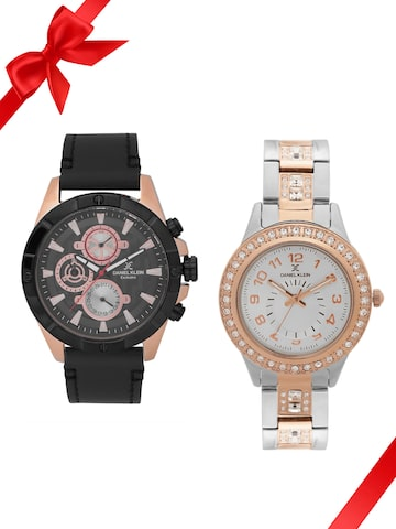 Daniel Klein Set of 2 His & Her Watch DK11290-3 DK11401-5 Daniel Klein Watches at myntra