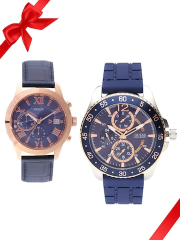 Guess Set of 2 His & Her Watch W0798G2_OR W0669G2_OR GUESS Watches at myntra