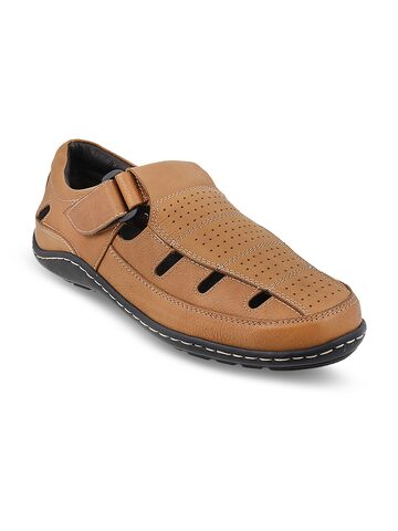 Metro Men Tan Leather Clogs Metro Sandals at myntra