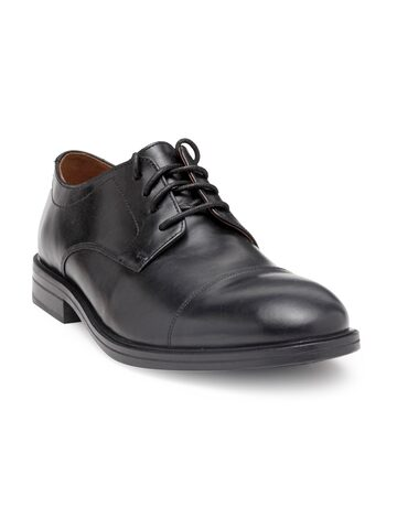 Clarks Men Black Leather Derby Shoes Clarks Formal Shoes at myntra