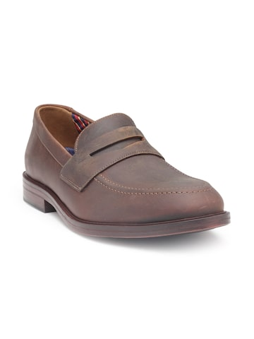 Clarks Men Brown Leather Formal Penny Loafers Clarks Formal Shoes at myntra