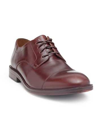 Clarks Men Brown Leather Derby Shoes Clarks Formal Shoes at myntra