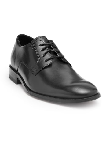 Clarks Men Black Leather Derby Shoes Clarks Formal Shoes at myntra
