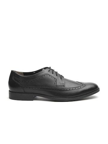 Clarks Men Black Leather Formal Brogues Clarks Formal Shoes at myntra