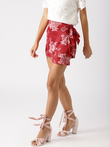 DressBerry Red & Off-White Printed Skorts DressBerry Skirts at myntra