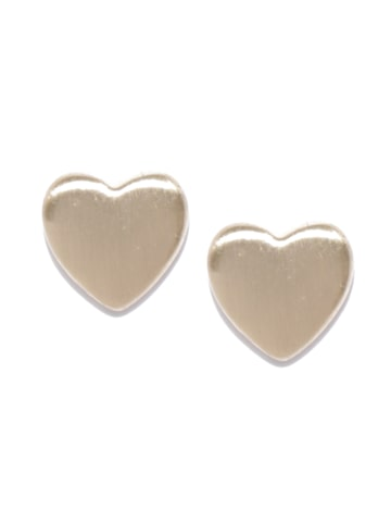 Accessorize Gold-Toned Heart Shaped Studs Accessorize Earrings at myntra