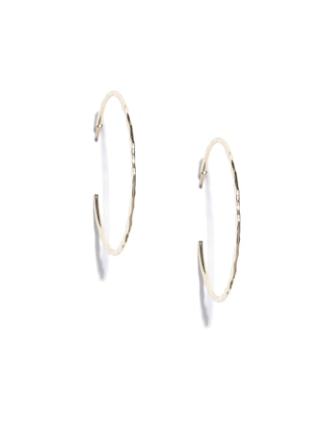 Accessorize Gold-Toned Circular Half Hoop Earrings Accessorize Earrings at myntra
