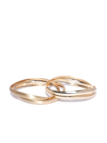 Accessorize Set of 4 Gold-Toned Bangles Accessorize Bangle at myntra