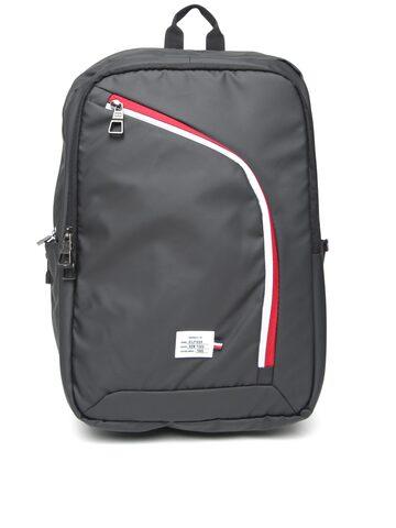 Tommy Hilfiger Unisex Black Laptop Backpack Tommy Hilfiger Backpacks at myntra