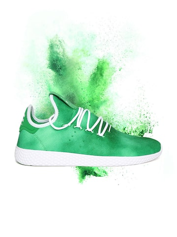 Adidas Originals Men Green PW HU Holi Tennis Sneakers Adidas Originals Casual Shoes at myntra