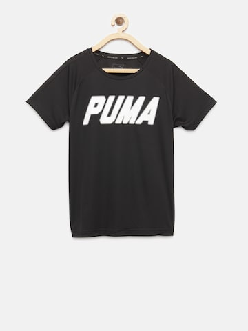 Puma Boys Black Gym Graphic Printed Round Neck T-shirt Puma Tshirts at myntra