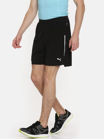 PUMA Men Black PWRRUN 2in1 Sports Shorts Puma Shorts at myntra