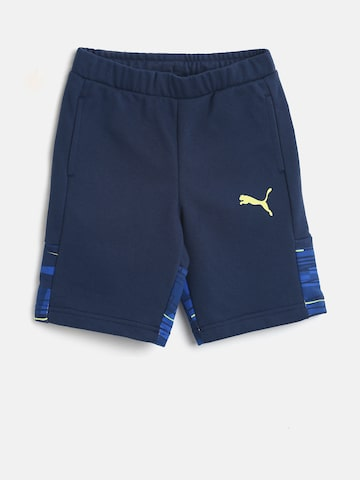 Puma Boys Blue Printed Hero Sweat Shorts Puma Shorts at myntra