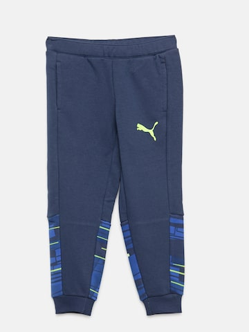 c5d72ea3a051 Puma Boys Blue Hero Joggers with Printed Detail Puma Track Pants from  myntra in Track Pants