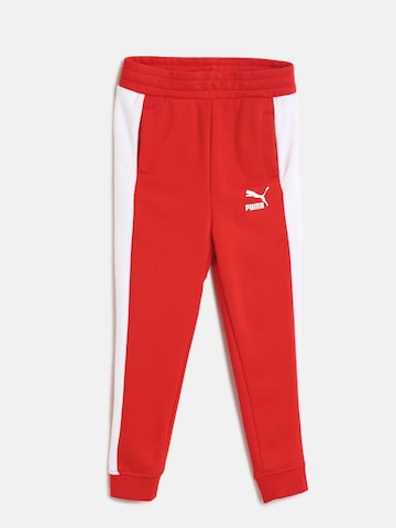 Puma Boys Red Solid Classic T7 Joggers Puma Track Pants at myntra