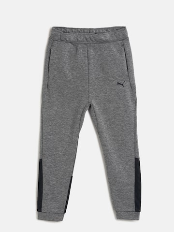 Puma Boys Grey Solid Slim Fit TECH Joggers Puma Track Pants at myntra