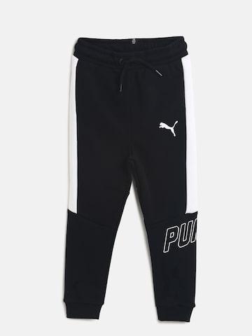 Puma Boys Black Solid Slim Fit Style Joggers Puma Track Pants at myntra