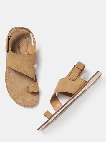 Roadster Men Beige Comfort Sandals Roadster Sandals at myntra