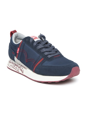 Levis Men Navy Blue Sneakers Levis Casual Shoes at myntra
