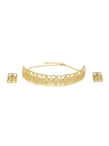 Estelle By Nitya Arora Gold-Plated Jewellery Set Estelle Jewellery Set at myntra