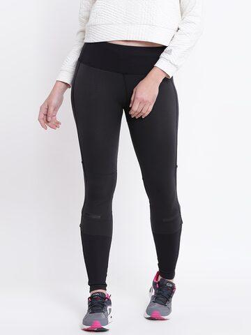 Adidas Women Black Ultra Self-Design Tights Adidas Tights at myntra