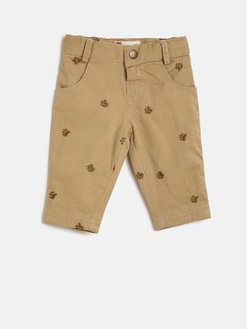 UFO Boys Khaki Regular Fit Printed Regular Trousers UFO Trousers at myntra