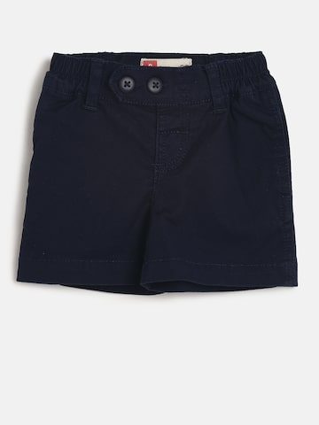UFO Boys Navy Blue Solid Regular Fit Regular Shorts UFO Shorts at myntra