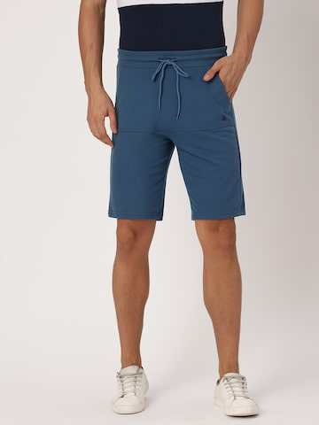 United Colors of Benetton Men Blue Solid Regular Fit Shorts United Colors of Benetton Shorts at myntra