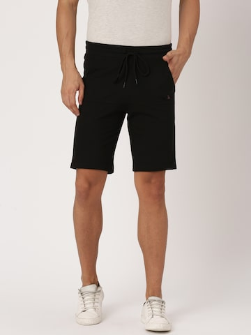 United Colors of Benetton Men Black Solid Shorts United Colors of Benetton Shorts at myntra