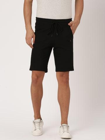 United Colors of Benetton Men Black Solid Shorts United Colors of Benetton Shorts at myntra