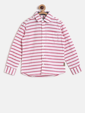 Flying Machine Boys Pink & White Striped Casual Shirt Flying Machine Shirts at myntra