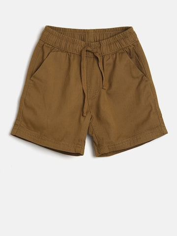Flying Machine Boys Brown Solid Regular Fit Regular Shorts Flying Machine Shorts at myntra