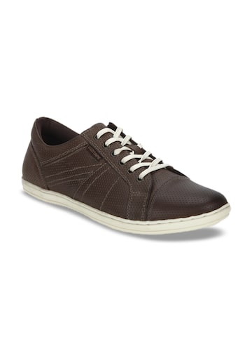 Red Tape Men Coffee Brown Leather Sneakers Red Tape Casual Shoes at myntra