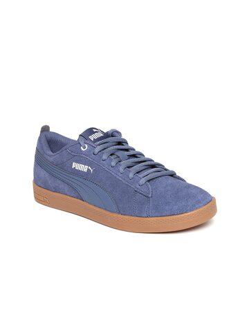 Puma Women Blue Smash V2 SD Sneakers Puma Casual Shoes at myntra