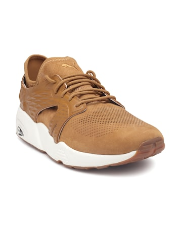 Puma Men Brown Blaze Cage Sandstorm Sneakers Puma Casual Shoes at myntra