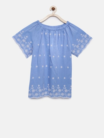 Bossini Girls Blue Self Design Top Bossini Tops at myntra