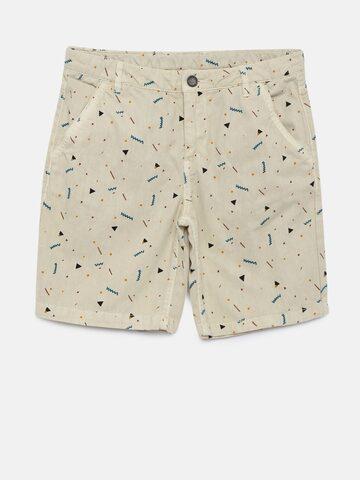 Bossini Boys Beige Printed Regular Fit Shorts Bossini Shorts at myntra